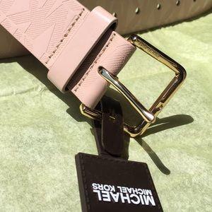 New! Michael Kors Blush Colored Monogrammed Belt